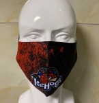 IceHogs Adjustable Mask - Splatter Paint Pattern