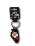 IceHogs Illinois Metal Key Chain