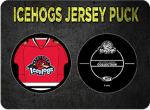 IceHogs Jersey Puck